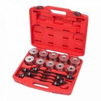 Набор оправок для монтажа и демонтажа сайлентблоков 34-82 мм кейс 24 предмета МАСТАК 110-20024C