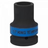 Головка торцевая глубокая ударная четырехгранная 1 17 мм футорочная KING TONY 853417M