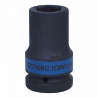 Головка торцевая ударная глубокая шестигранная 1 27 мм KING TONY 843527M