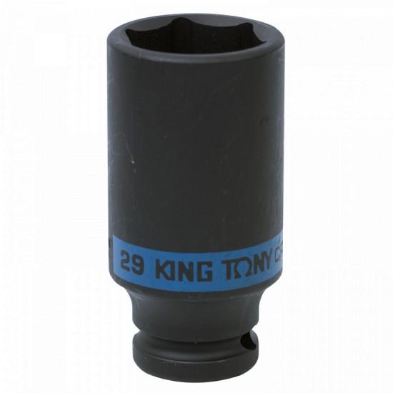 Головка торцевая ударная глубокая шестигранная 1/2 29 мм KING TONY 443529M