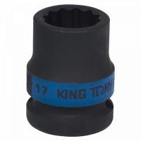Головка торцевая ударная двенадцатигранная 1/2 17 мм KING TONY 453017M