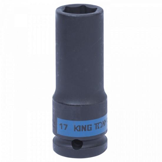 Головка торцевая ударная глубокая шестигранная 1/2 17 мм KING TONY 443517M