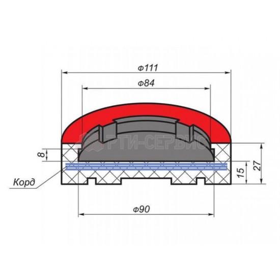1043К Накладка резиновая для подъемников AMGO. КОРД