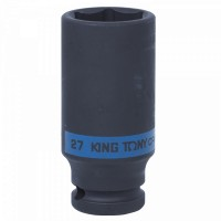 Головка торцевая ударная глубокая шестигранная 1/2 27 мм KING TONY 443527M
