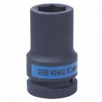 Головка торцевая ударная глубокая шестигранная 1 28 мм KING TONY 843528M