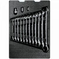 Набор трещоточных комбинированных ключей ложемент 15 предметов KING TONY 9-10115MR