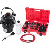 Набор приспособлений для замены тормозной жидкости 6 л комплект крышек адаптеров 17 пр. МАСТАК 102-40005