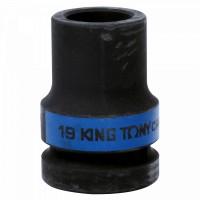 Головка торцевая глубокая ударная четырехгранная 1 19 мм футорочная KING TONY 853419M