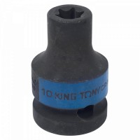 Головка торцевая ударная TORX Е-стандарт 1/2 E10 L = 38 мм KING TONY 457510M