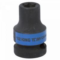 Головка торцевая ударная TORX Е-стандарт 1/2 E12 L = 38 мм KING TONY 457512M