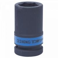 Головка торцевая ударная глубокая шестигранная 1 33 мм KING TONY 843533M