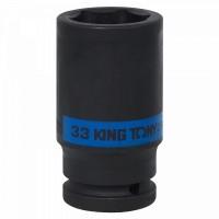 Головка торцевая ударная глубокая шестигранная 3/4 33 мм KING TONY 643533M