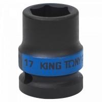 Головка торцевая ударная шестигранная 1/2 17 мм KING TONY 453517M