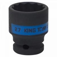Головка торцевая ударная двенадцатигранная 1/2 27 мм KING TONY 453027M