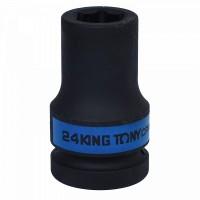 Головка торцевая ударная глубокая шестигранная 1 24 мм KING TONY 843524M