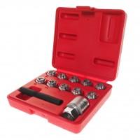 JTC-4596 Набор головок для секретных болтов и гаек (10 головок,  экстрактор,  фикс.гайка) (MERCEDES)