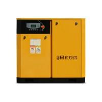 Винтовой компрессор с ременным приводом BERG IP23 ВК-37Р, давление 10 бар