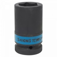 Головка торцевая ударная глубокая шестигранная 1 34 мм KING TONY 843534M