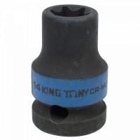 Головка торцевая ударная TORX Е-стандарт 1/2 E14 L = 38 мм KING TONY 457514M