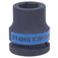 Головка торцевая ударная шестигранная 3/4 21 мм KING TONY 653521M