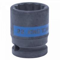 Головка торцевая ударная двенадцатигранная 1/2 22 мм KING TONY 453022M