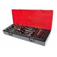 JTC-K6144 Набор ключей комбинированных 8-19мм укороченных трещоточных 14 предметов в кейсе
