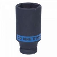 Головка торцевая ударная глубокая шестигранная 1/2 30 мм KING TONY 443530M