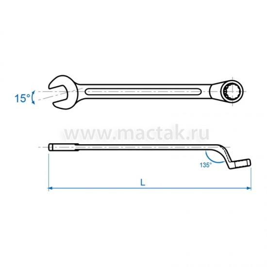 Ключ комбинированный 22 мм 45° KING TONY 1063-22