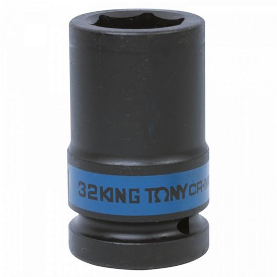 Головка торцевая ударная глубокая шестигранная 1 32 мм KING TONY 843532M