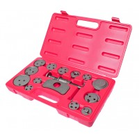 JTC-1613A Набор инструментов для сведения тормозных цилиндров 15 предметов в кейсе