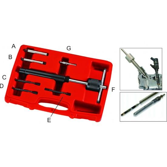 JTC-4052 Набор инструментов для демонтажа свечей накаливания (адаптер 2.7-6мм) 7пр. в кейсе