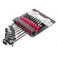 JTC-3448 Набор ключей комбинированных трещоточных 8-17мм шарнирных 9 предметов