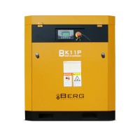 Винтовой компрессор с ременным приводом BERG IP23 ВК-11Р, давление 10 бар