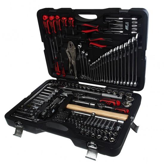JTC-H156C-B72 Набор инструментов 156 предметов слесарно-монтажный 1/4, 1/2 в кейсе