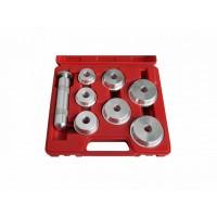 Набор оправок алюминиевых для подшипников 40-65 мм кейс 8 предметов МАСТАК 100-20008C
