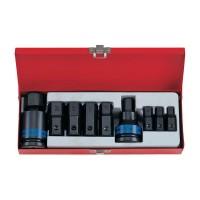 Набор ударных торцевых насадок 3/4 HEX 10-32 мм 11 предметов KING TONY 6411MP