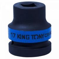 Головка торцевая ударная четырехгранная 1 17 мм футорочная KING TONY 851417M