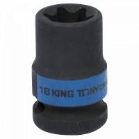 Головка торцевая ударная TORX Е-стандарт 1/2 E18 L = 38 мм KING TONY 457518M