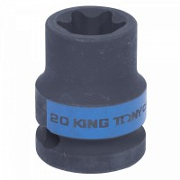 Головка торцевая ударная TORX Е-стандарт 1/2 E20 L = 38 мм KING TONY 457520M