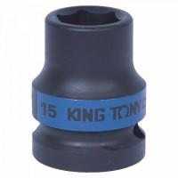 Головка торцевая ударная шестигранная 1/2 15 мм KING TONY 453515M