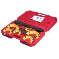 JTC-4274 Набор инструментов для стяжки пружин с пневмоприводом (3 пары захватов,  ход 317мм) в кейсе