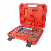 JTC-4687 Приспособление для обслуживания тормозных цилиндров с пневмоприводом комплект 15 адаптеров