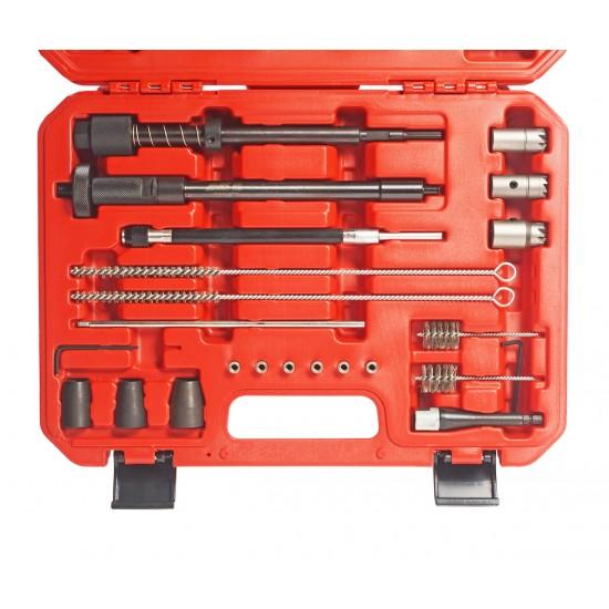 JTC-4262 Набор инструментов для восстановления и очистки посадочных мест форсунок в кейсе
