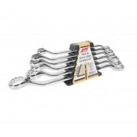JTC-PR1012S Набор ключей накидных 10-24мм 45град. 12-ти гранных (зеркальная полировка) 6 предметов