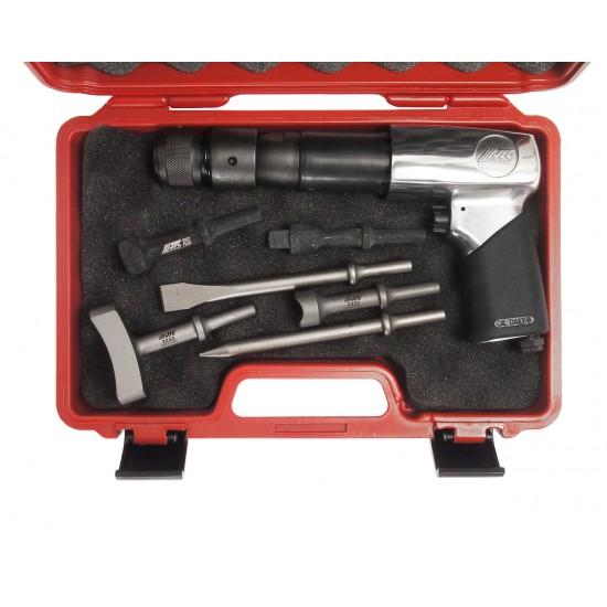 JTC-3310K Молоток пневматический 2100уд/мин. с набором зубил 8 предметов