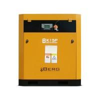 Винтовой компрессор с ременным приводом BERG IP23 ВК-15Р, давление 10 бар