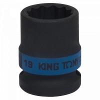Головка торцевая ударная двенадцатигранная 1/2 19 мм KING TONY 453019M