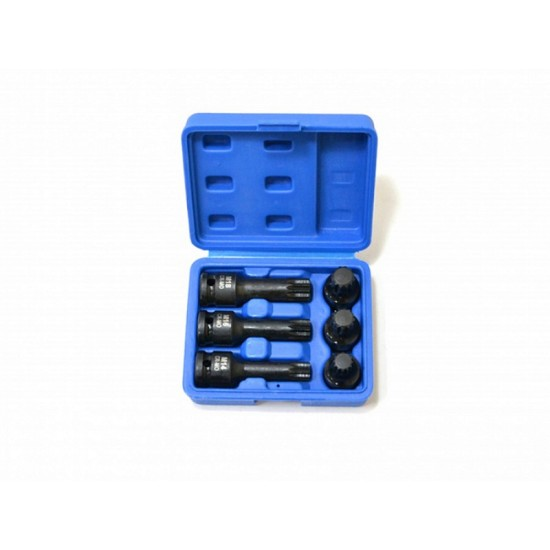 Набор торцевых насадок 1/2 для болта задней ступицы VAG SPLINE M14-M18 6 предметов МАСТАК 100-42006