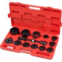 Набор оправок для монтажа и демонтажа ступичных подшипников кейс 14 предметов МАСТАК 100-30014C