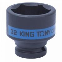 Головка торцевая ударная шестигранная 1/2 32 мм KING TONY 453532M